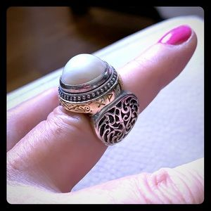 KONSTANTINO ✨ Sterling, 18kt, and Pearl Ring